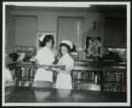 Hotel Dieu Nursing School Students in Library
