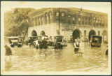 Flood with Automobiles and People